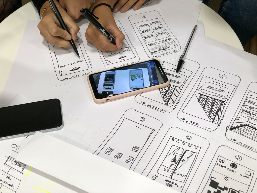 Wireframing and planning out a mobile app