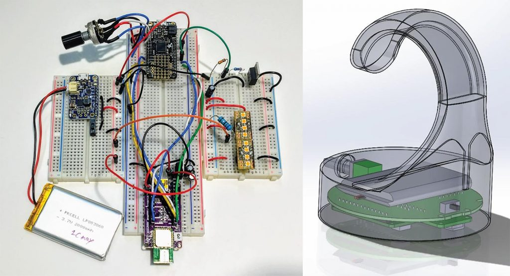 Circalux Proximity Sensing LED Light prototype